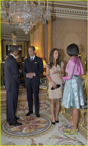 Prince William & Kate Middleton Meet President Obama