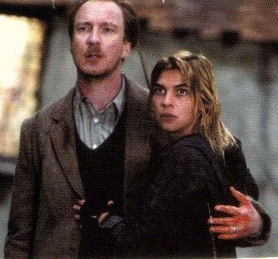 Remus Lupin Hintergrund probably containing a business suit, a well dressed person, and a slack suit entitled Remus Lupin with Tonks