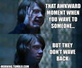 Ron's awkward moment