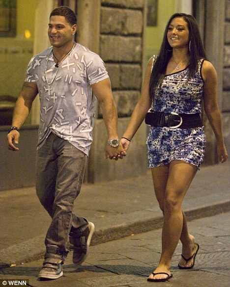 jersey shore sammi ronnie. Ronnie and Sammi in Italy