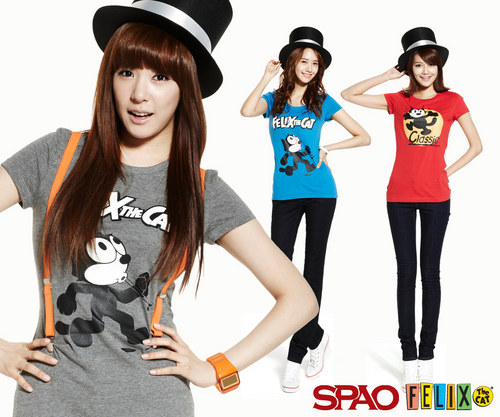 Girls Generation/SNSD wallpaper containing a jersey called SNSD SPAO Felix The Cat