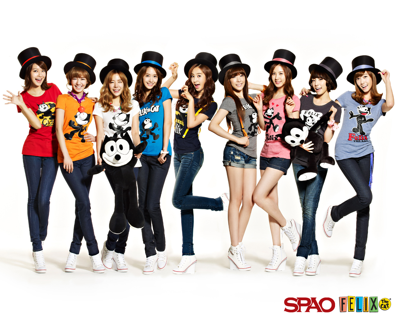 Girls generation snsd snsd spao felix the cat