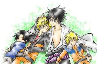 Sasuke and Naruto young and older