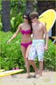 Selena Gomez & Justin Bieber Hit Hawaii Waves