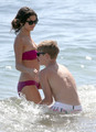 Selena Gomez in a Bikini on the strand in Maui with Justin Bieber