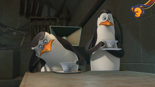 Skipper Looks Bored While Drinking chai XD