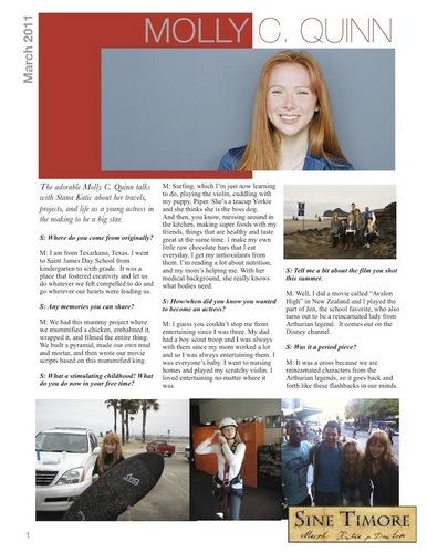 Stana Katic interviews Molly Quinn