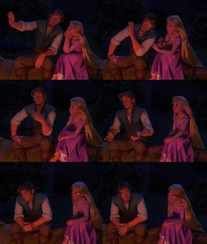 Rapunzel and Flynn karatasi la kupamba ukuta titled Tangled