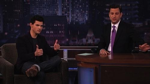 Taylor Lautner on Jimmy Kimmel