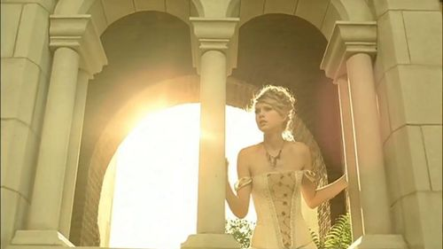Taylor Swift wallpaper possibly containing a portcullis and a street titled Taylor Swift - Love Story [Music Video]