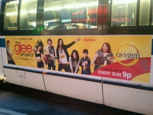 The Glee Project advertisement sighting!
