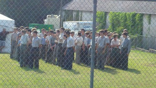 The Hunger Games wallpaper containing a chainlink fence called The Hunger Games movie - On set: Shelby, NC (May 26, 2011)