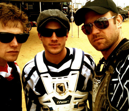 Trevino, Zach & Matt in motocross gear
