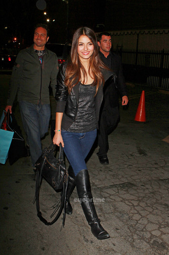 Victoria Justice pictured outside Avalon Club in Hollywood