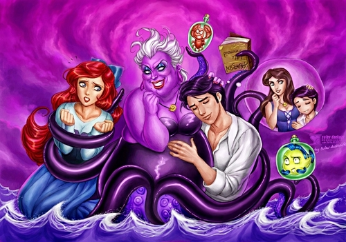 Walt 디즈니 팬 Art - Little Mermaid vs Ursula