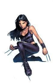X-23 wallpaper possibly with bare legs, hosiery, and a hip boot titled X-23
