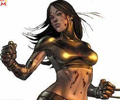 X-23 wallpaper with a breastplate and an armor plate titled X-23