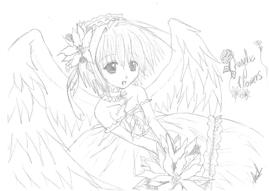 Anime Angel Anime Drawing Fan Art 22357201 Fanpop