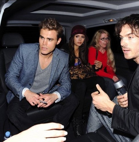 Ian Somerhalder and Nina Dobrev wallpaper containing an automobile and a limousine titled car 2