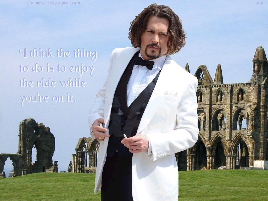 enjoy the ride - johnny-depp wallpaper