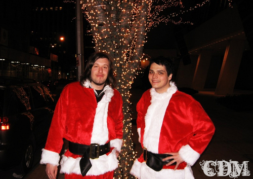 gerard as santa? would that be cool of what?