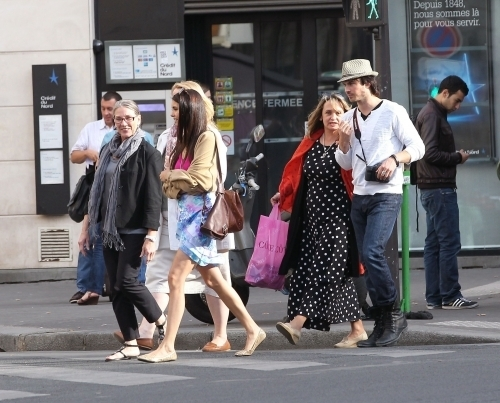 Ian Somerhalder and Nina Dobrev wallpaper containing a street and a business suit titled mother in law and ian