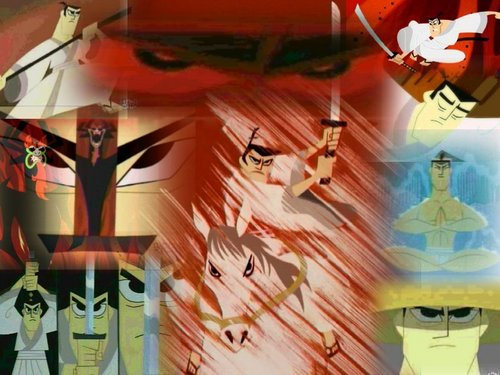 Samurai Jack Hintergrund possibly with a circus tent entitled the greatest samurai