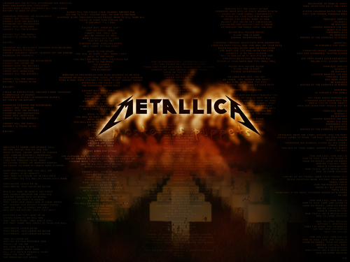 Metallica wallpaper possibly containing a sign, a business district, and a street entitled  wallpapers