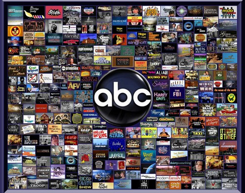Television wallpaper possibly containing a newsstand called Abc Television Over the Years