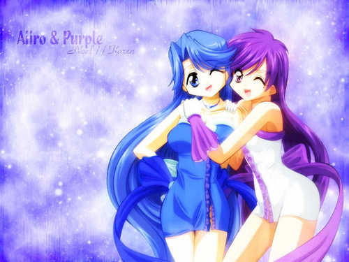 Aiiro and purple (Noel and Caren)