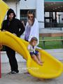 Alessandra Ambrosio & Family in Malibu