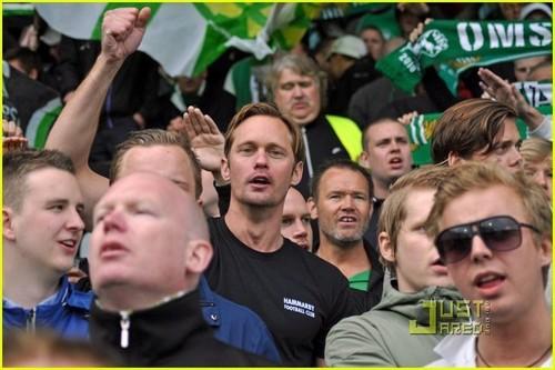 Alexander Skarsgard: Hammarby Game with Brother Bill!