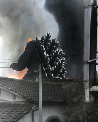 Another montage I made GODZILLA in my town