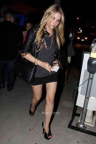 Ashley Benson shows off her perfect pins at boa in Hollywood, May 28
