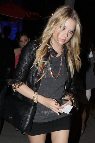 Ashley Benson shows off her perfect pins at باؤ in Hollywood, May 28