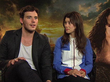 Astrid Berges-Frisbey and Sam Claflin