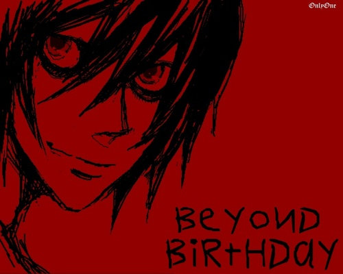 Beyond Birthday wallpaper containing anime entitled BB