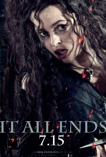 Bellatrix Deathly Hallows pt2 poster