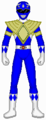 Blue Ranger with Dragon shield - mighty-morphin-power-rangers fan art