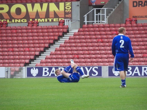 Bradley James Charity football 29 may 2011