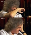 queen - Brian May, after talking about how his dad finally accepted his decision to be a musician. screencap
