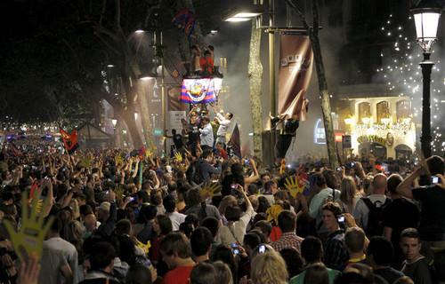 Celebrations in Barcelona