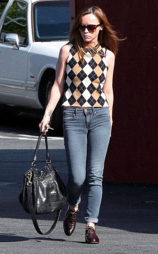 Christina Ricci Meeting Up With Friends In Los Feliz