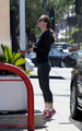 Christina Ricci pumping Gas in Hollywood, May 10