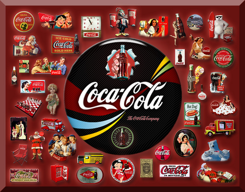 Coke wallpaper titled Coca Cola Collage