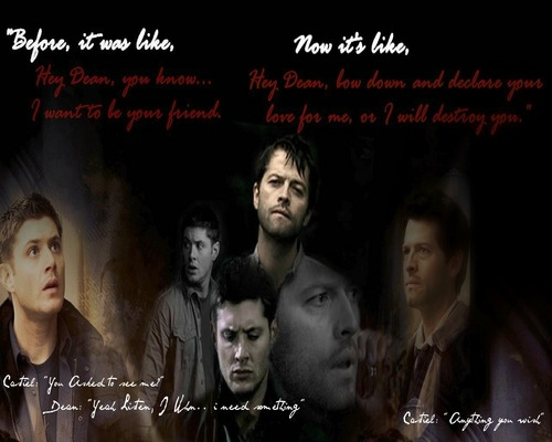 Dean and Castiel - Bow down before me