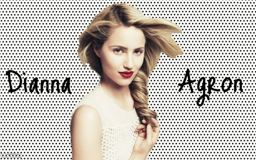 Quinn Fabray wallpaper probably with a portrait entitled Dianna Agron Wallpaper <3
