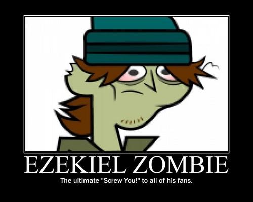 Total Drama Island wallpaper with anime titled Ezekiel Demotival