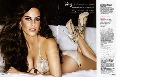 Jessica Lowndes wallpaper probably containing attractiveness, a portrait, and skin entitled FHM scans