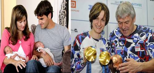Federer twins look alike with Медали